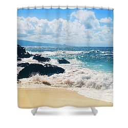 Shower Curtain featuring the photograph Hookipa Beach Maui Hawaii by Sharon Mau