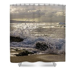 Shower Curtain featuring the photograph Ho'okipa Beach Maui by Janis Knight