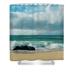 Shower Curtain featuring the photograph Hookipa Beach Pacific Ocean Waves Maui Hawaii by Sharon Mau