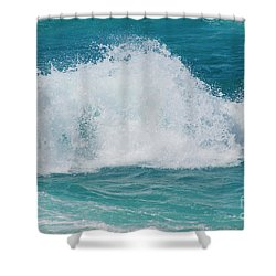 Shower Curtain featuring the photograph Hookipa Splash Waves Beach Break Shore Break Pacific Ocean Maui  by Sharon Mau