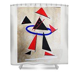 Hoola Hoop Shower Curtain