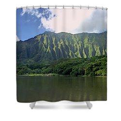 Hoolanluhia Botanical Garden Shower Curtain by Michael Peychich