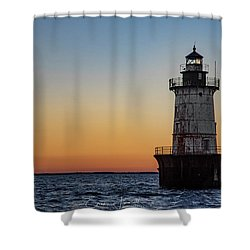 Hoopers Island Sunset Shower Curtain