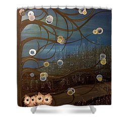 Hoo's City Original Shower Curtain