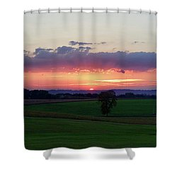 Hoosier Sunset Shower Curtain