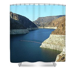 Shower Curtain featuring the photograph Hoover Dam In May by Emmy Marie Vickers