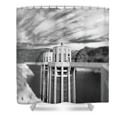 Hoover Dam Intake Towers No. 1-1 Shower Curtain