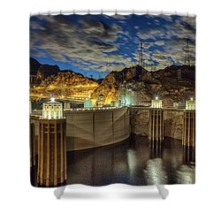Hoover Dam Shower Curtain by Michael Rogers
