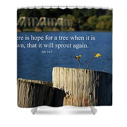 Hope For A Tree Shower Curtain