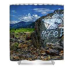 Shower Curtain featuring the photograph Hope II by John Poon