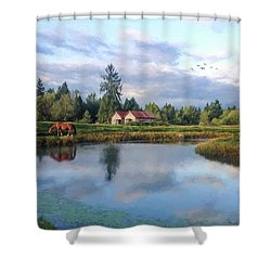 Hope Is Not A Dream - Hope Valley Art Shower Curtain