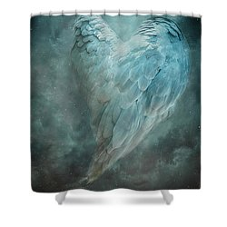 Shower Curtain featuring the digital art Hope Is The Thing With Feathers by Nicole Wilde