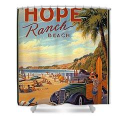Hope Ranch Beach Shower Curtain