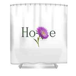 Hope Shirt Shower Curtain by Ann Lauwers