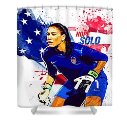 Hope Solo Shower Curtain by Semih Yurdabak