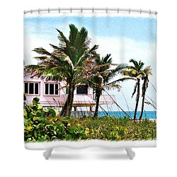 Hope Sound House Shower Curtain by Linda Olsen