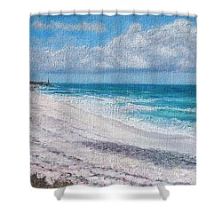 Hope Town Beach Shower Curtain