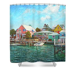 Hope Town By The Sea Shower Curtain