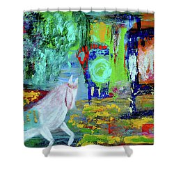 Hope - White Rain Comes From Dark Clouds Shower Curtain by Haleh Mahbod