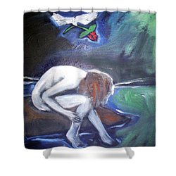 Shower Curtain featuring the painting Hope  by Winsome Gunning