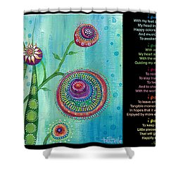 Hope With Poem Shower Curtain