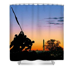 Hopeful As The Dawn Shower Curtain by Mitch Cat