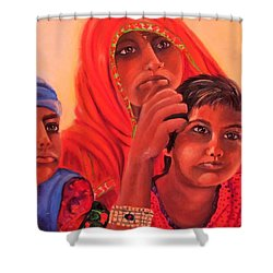 #hopeful In India Shower Curtain