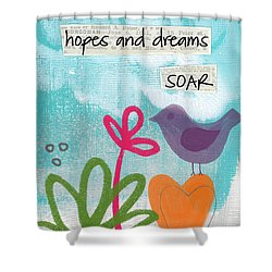 Hopes And Dreams Soar Shower Curtain by Linda Woods