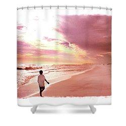 Hope's Horizon Shower Curtain by Marie Hicks