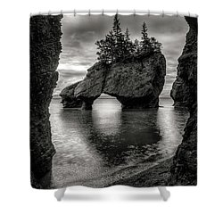 Hopewell Rocks Shower Curtain