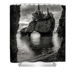Hopewell Rocks Shower Curtain by Neil Shapiro