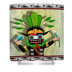 Hopi Harvest Kachina Shower Curtain by John Wills