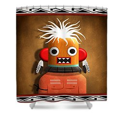 Hopi Indian Kachina Shower Curtain by John Wills