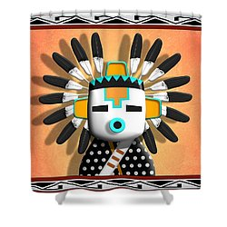 Hopi Kachina Mask Shower Curtain by John Wills