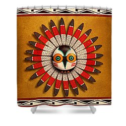 Hopi Owl Mask Shower Curtain by John Wills