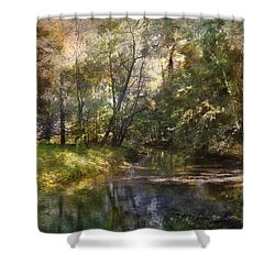 Shower Curtain featuring the photograph Hopkins Pond, Haddonfield, N.j. by John Rivera