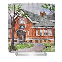 Horace Mann School Amesbury Ma Shower Curtain
