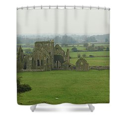 Hore Abbey Shower Curtain by Marie Leslie