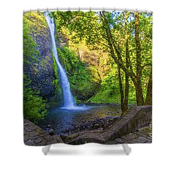 Shower Curtain featuring the photograph Horesetail Falls by Jonny D