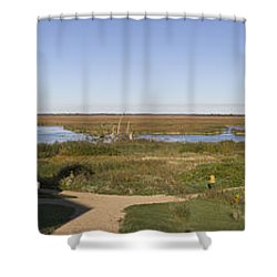 Shower Curtain featuring the photograph Horicon Marsh Wildlife Refuge by Ricky L Jones