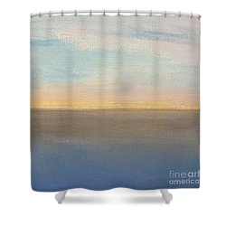 Horizon Aglow Shower Curtain