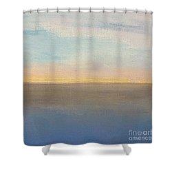 Horizon Aglow Shower Curtain by Kim Nelson