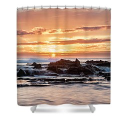 Horizon In Paradise Shower Curtain by Heather Applegate