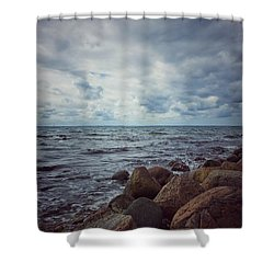 Shower Curtain featuring the photograph Horizon by Karen Stahlros