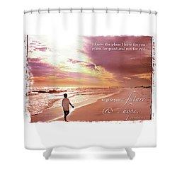 Horizon Of Hope Shower Curtain by Marie Hicks