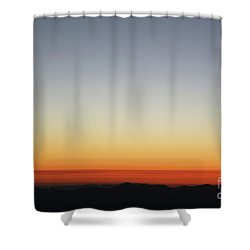 Horizon On Fire Shower Curtain