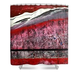 Shower Curtain featuring the painting Horizon X 3 by Carolyn Repka