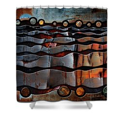 Horizons Shower Curtain by Joan Ladendorf
