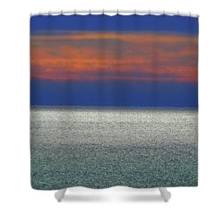 Horizontal Sunset Shower Curtain