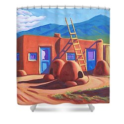 Horno De Pan Taos Shower Curtain